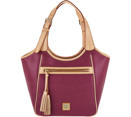 """As Is"" Dooney & Bourke Saffiano Leather Shoulder Bag"