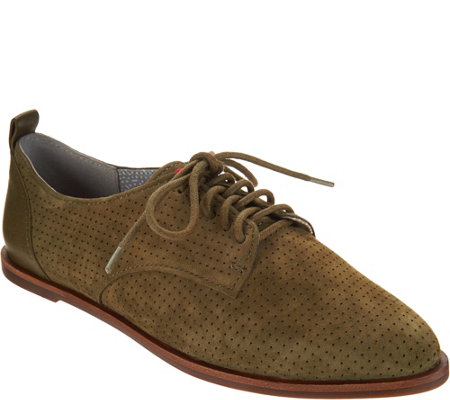 """As Is"" ED Ellen DeGeneres Leather Lace-up Oxford Shoes - Kulver"