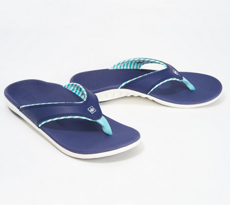 Spenco Orthotic Thong Sandals -Yumi Candy Stripe