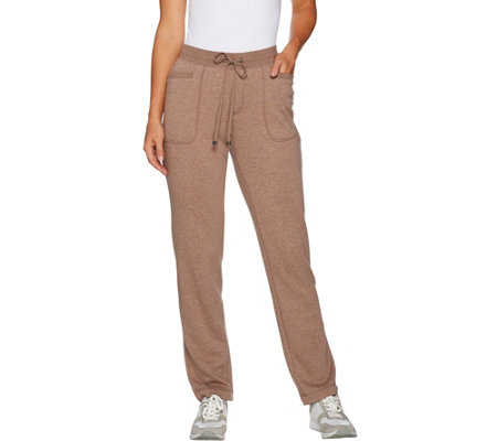 """As Is"" Isaac Mizrahi Live! Regular SOHO Plushed Back StraightLegPant"