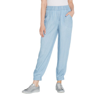 Lisa Rinna Collection Lyocell Jogger Pants