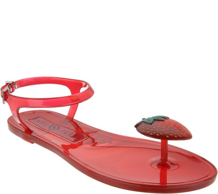 Katy Perry Scented Jelly Thong Sandals - The Geli - Page 1 — QVC.com
