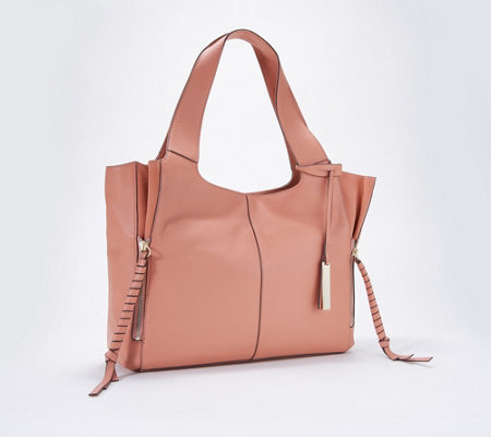 580c0d8080c Vince Camuto Leather and Suede Tote - Cory - Page 1 — QVC.com