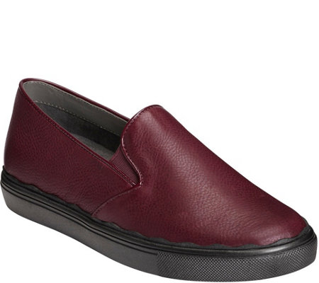 Aerosoles Leather Sporty Slip Ons - Millionaire