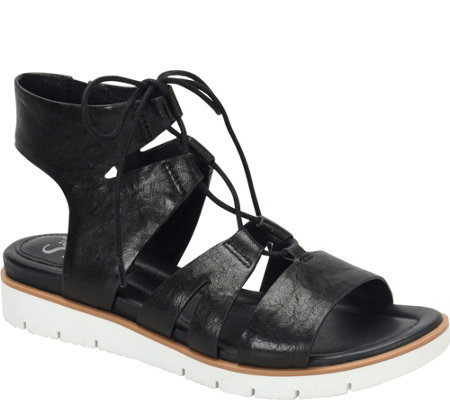 Sofft Leather Ghillie Sandals - Madera