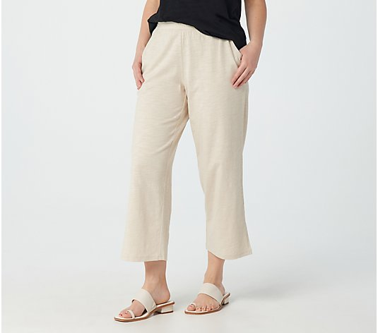 Belle Beach by Kim Gravel Slub Knit Cropped Pants