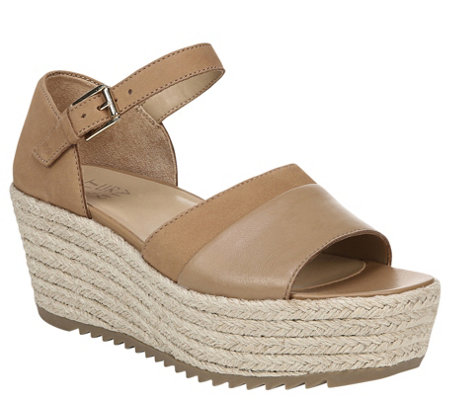 Naturalizer Leather Espadrilles Sandals - Opal