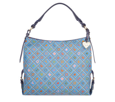 1d74a5e037 Dooney   Bourke Leather Trimmed Crossword Collection Medium Sac ...