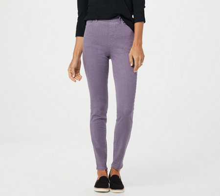 """As Is"" Denim & Co. Elastic Waist Stretch Jeggins"