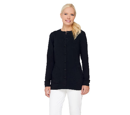 Linea Leisure by Louis Dell'Olio Button Front Knit Jacket