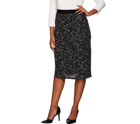 Linea by Louis Dell'Olio Textured Knit Midi Skirt