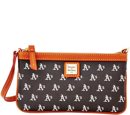 Dooney & Bourke MLB Athletics Large Slim Wristlet