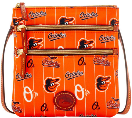 Dooney & Bourke MLB Nylon Orioles Triple Zip Crossbody