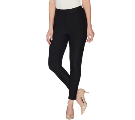 Joan Rivers Petite Ankle Length Leggings with Seam Detail