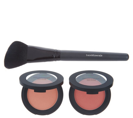 bareMinerals Gen Nude Powder Blush Duo with Brush