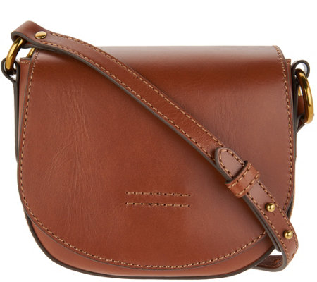 865d4f4c2b Frye Leather Harness Small Saddle Crossbody Handbag - Page 1 — QVC.com