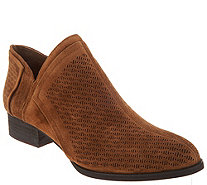Vince Camuto Perforated Suede Booties - Clorieea - A310635