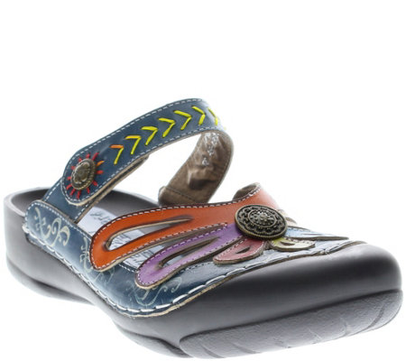 Spring Step L'Artiste Leather Clogs - Copa