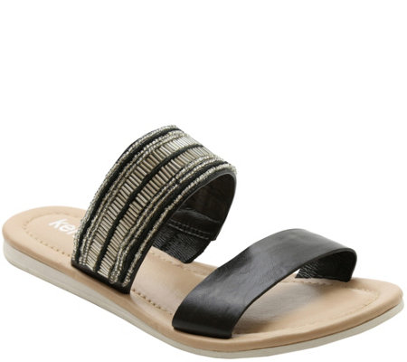 Kensie Slip-on Flat Sandals - Diva