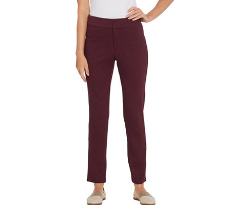 Martha Stewart Regular Knit Twill Ankle Length Pants