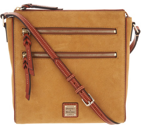 35ec241170 Dooney   Bourke Suede Large Peyton Triple Zip Crossbody - Page 1 ...