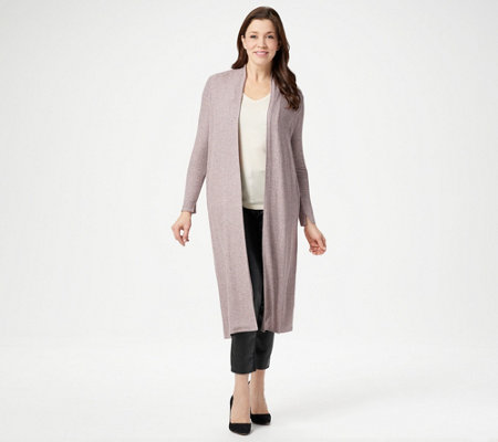 Lisa Rinna Collection Open Front Duster Cardigan