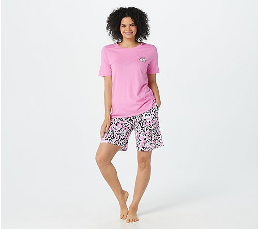 Cuddl Duds Cotton Touch Tee & Short Pajama Set