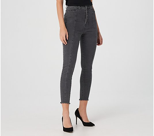 Du Jour Regular High Rise Jeggings with Button Fly