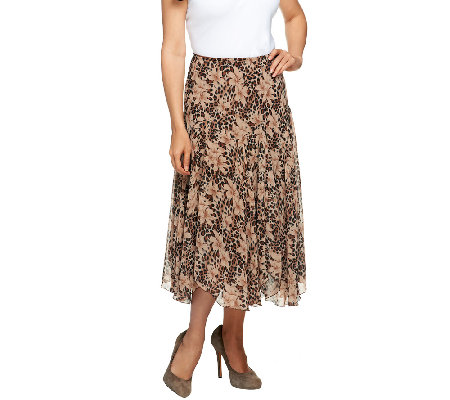 Newsworthy Printed Fully Lined Georgette Skirt