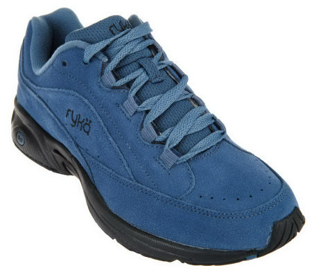 Ryka Suede Lace Up Walking Sneakers Catalyst