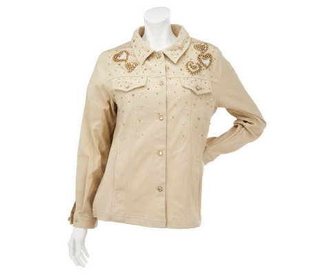 Quacker Factory Golden Beaded Jacket