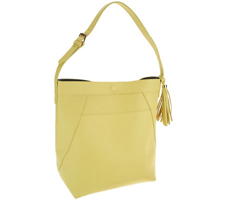 Isaac Mizrahi Live! Bridgehampton Leather Hobo