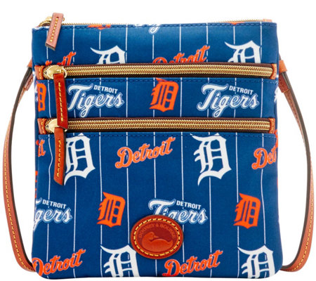 Dooney & Bourke MLB Nylon Tigers Triple Zip Crossbody
