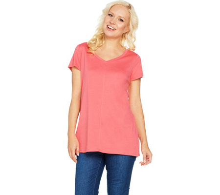 Isaac Mizrahi Live! Essentials Pima Cotton V-Neck Tunic