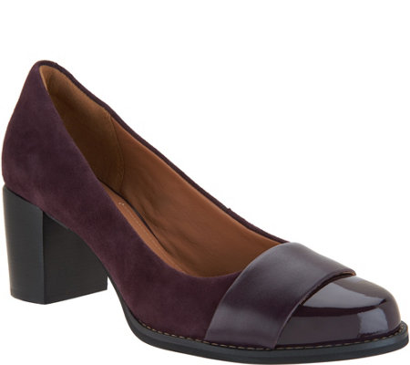 Clarks Artisan Leather_and Suede Pumps - Tarah Brae