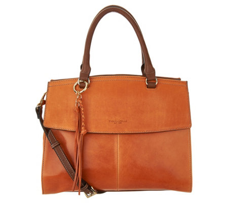 """As Is"" Tignanello Vintage Leather Convertible Satchel"