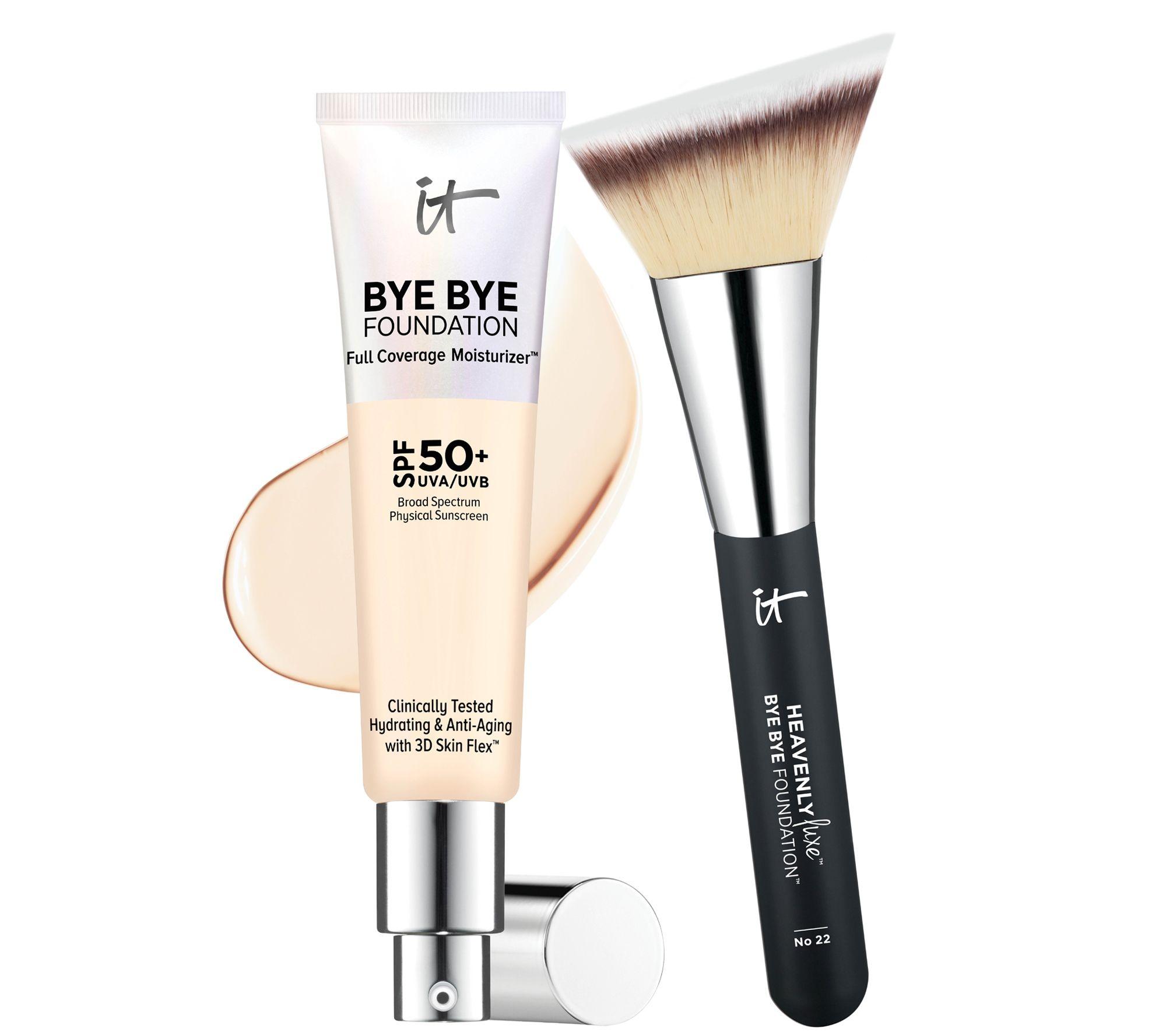 It Cosmetics Bye Bye Foundation Moisturizer With Brush Qvc Com