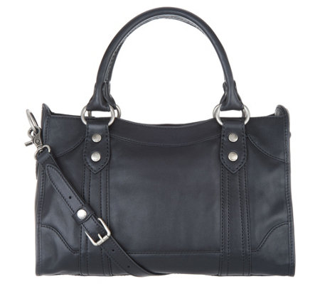 7fad43f594 Frye Leather Melissa Satchel Handbag - Page 1 — QVC.com