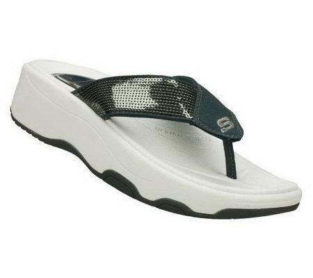 14bf2e16ace1 Skechers Women s Tone Ups - Shadow Box Toning Sandals - Page 1 — QVC.com