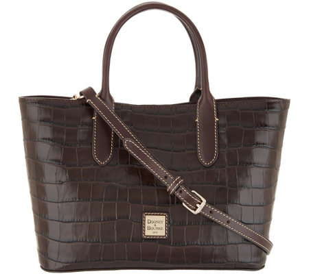 Dooney & Bourke Croco Embossed Leather Brielle Tote