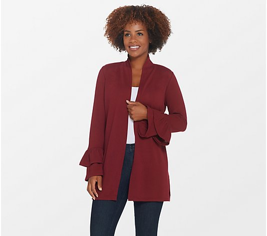 Belle by Kim Gravel Bell Sleeve Hacci Long Cardigan