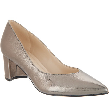 marc fisher velvet or leather low heel pumps mana page 1 qvc com