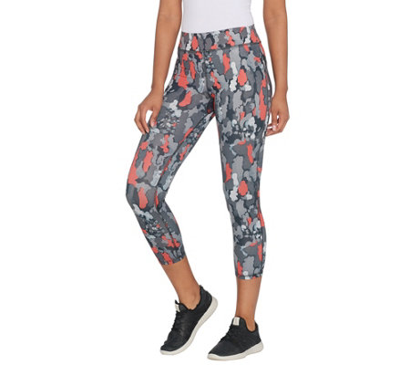 """As Is"" Susan Lucci Collection Petite Cropped Printed Legging"