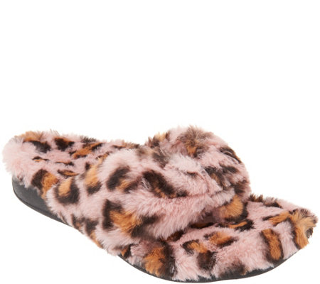 Vionic Terry Thong Slippers - Gracie Plush