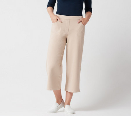 Quacker Factory DreamJeannes Wide Leg Culotte Pants