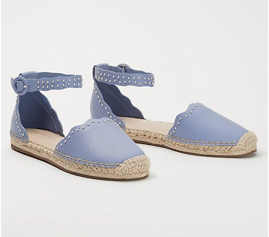 Marc Fisher Leather Espadrilles with Ankle Strap- Jarquis
