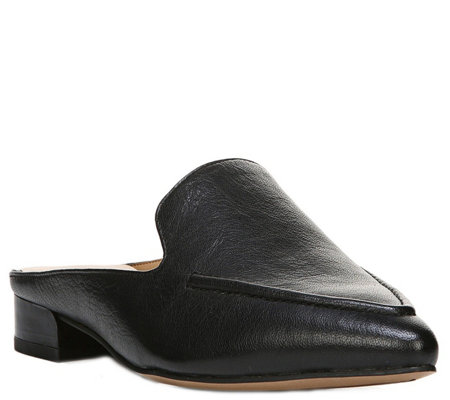 Franco Sarto Leather Mules - Sela