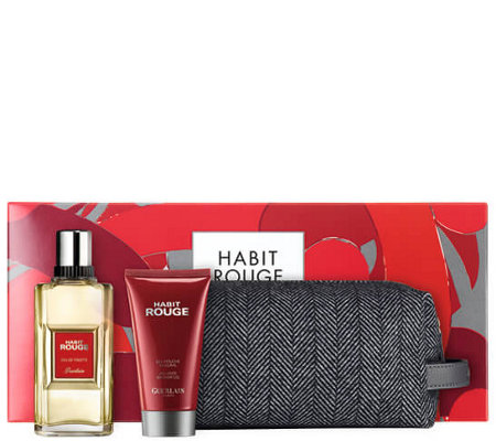 Guerlain Habit Rouge Men's Cologne & ShowerGel Set