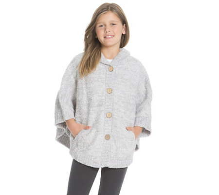 Barefoot Dreams CozyChic Youth Hooded Cape