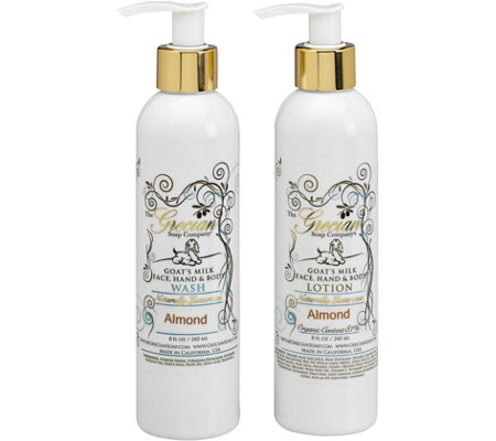 The Grecian Soap Company Goat's Milk Lotion & Body Wash Set